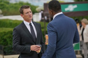 """CHICAGO JUSTICE -- """"See Something"""" Episode 101 -- Pictured: Philip Winchester as Peter Stone -- (Photo by: Parrish Lewis/NBC)"""