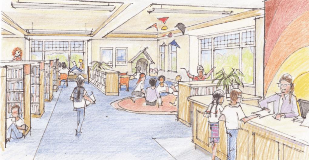 Design for Children's Department, Phoebe Griffin Noyes Library