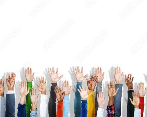 Voter hands