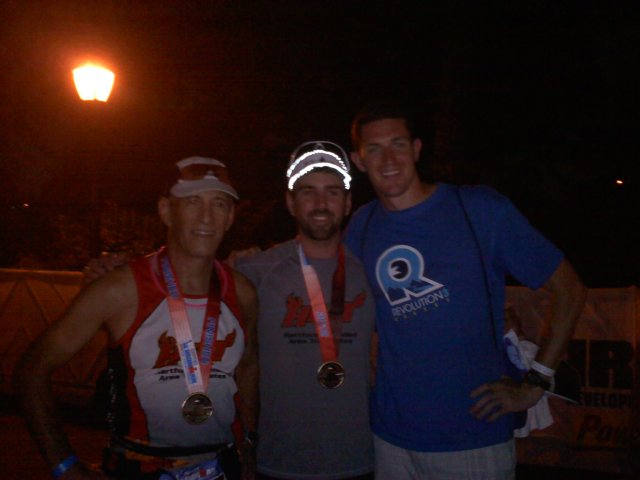 Tony and Bill Lombardi with Chris Hains after Iron Man New York