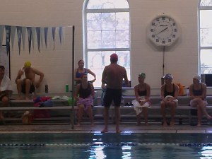 Jeff Stuart coaches the HEAT swim program at St. Joseph