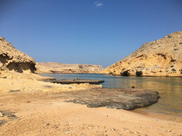 baai aan noordelijke kust in Oman