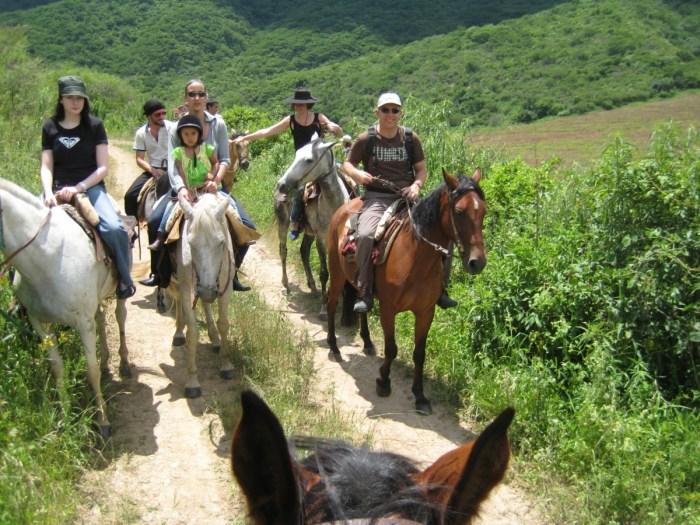 paardrijden rond Salta