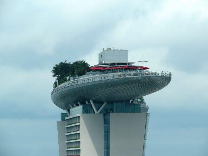 Bovenste verdieping Marina Bay Sands hotel