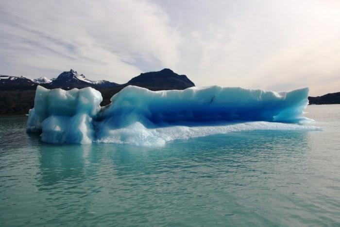 ijsschotsen bij de Upsala gletsjer