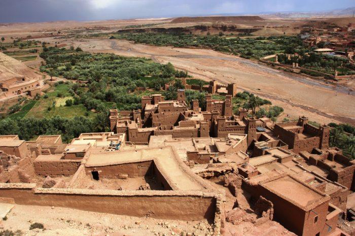 Uitzicht op Ait Benhaddou