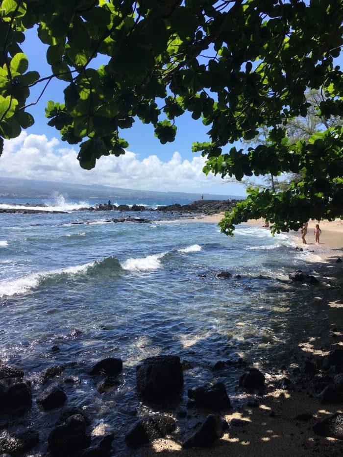 Kust bij Hilo, Big Island