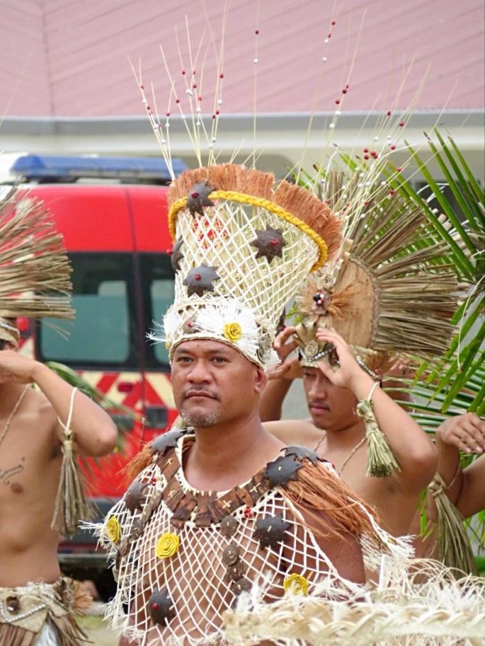 Mannelijke danser op Heiva Rurutu