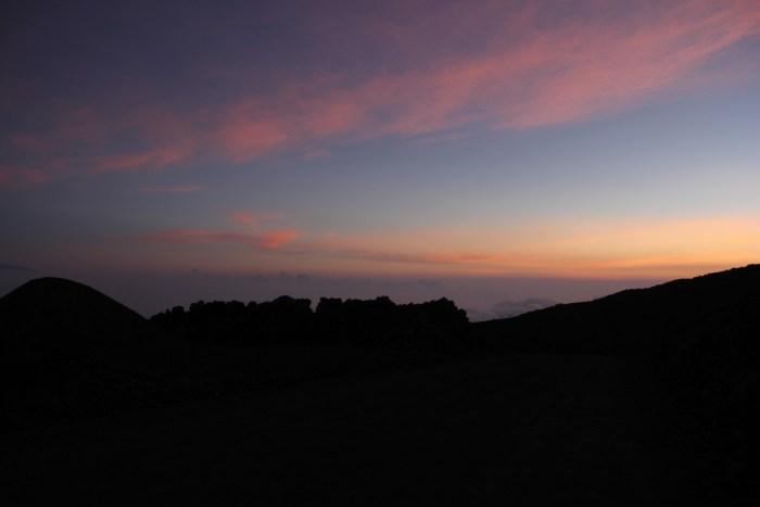 zonsondergang Mauna Kea