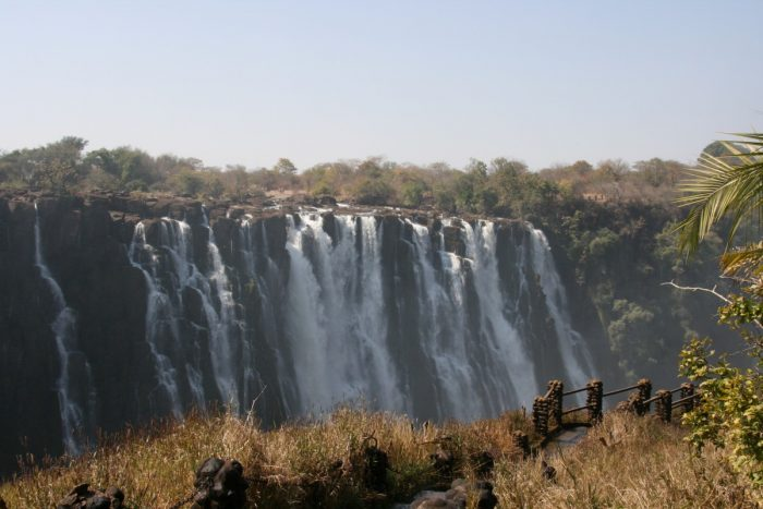 Victoria watervallen in Zambia