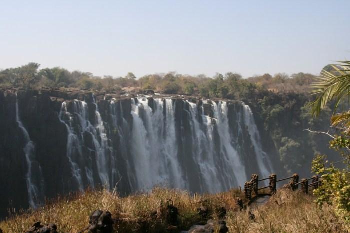Victoria watervallen in Zambia