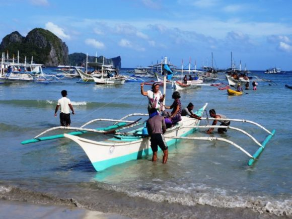 bootjes naar de Bacuit archipel