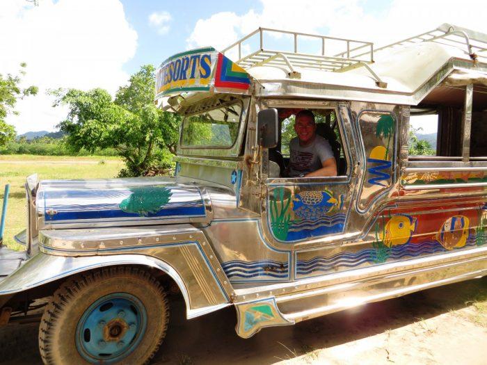 jeepney op vliegveld