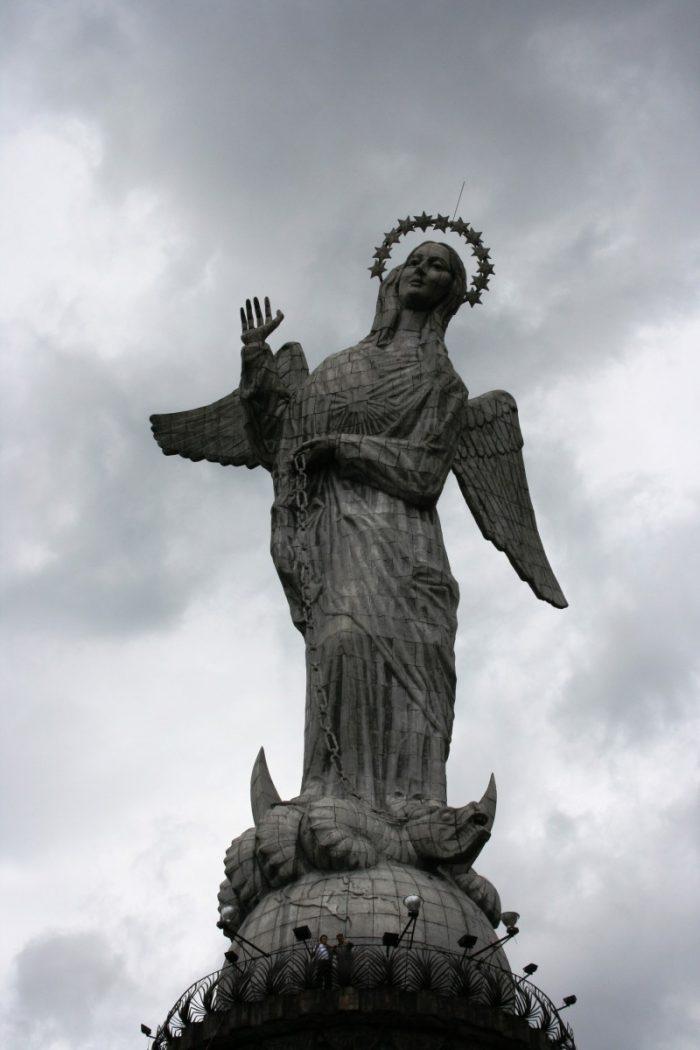 De heilige maagd van Quito