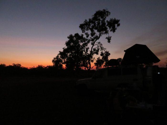 avond op de camping