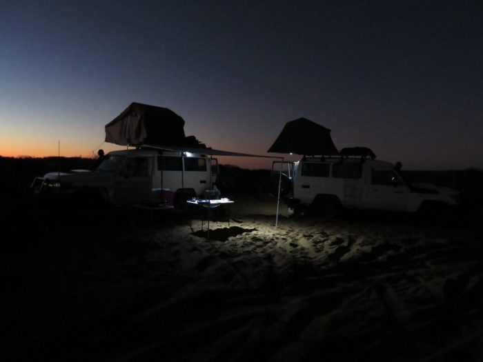 westkust Australië: camping by night