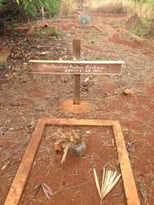 this was the neatest grave, thinking her ohana takes care of just this grave.