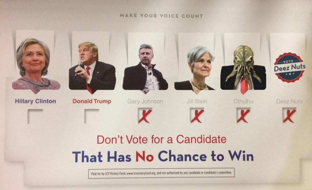 LCV Victory Fund anti-Cthulhu mailer