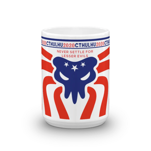 Cthulhu Patriot Mug 15 oz - front view