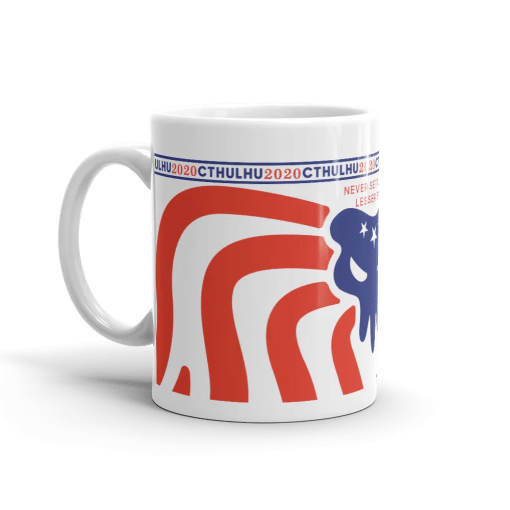 Cthulhu Patriot Mug 11 oz - left view