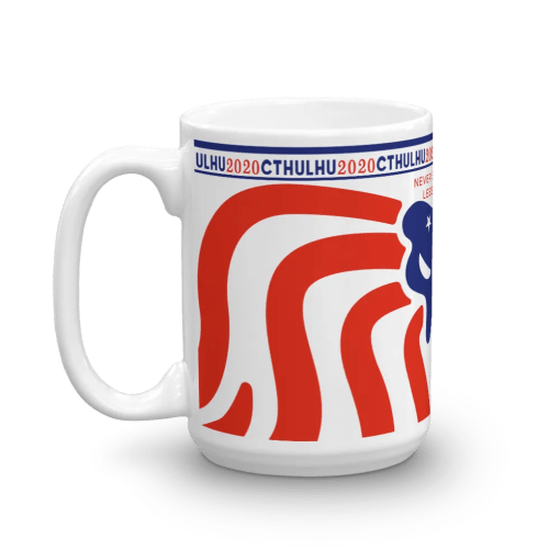Cthulhu Patriot Mug 15 oz - left view