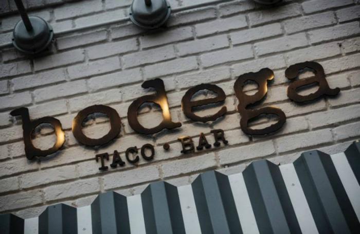 Bodega Taco Bar sign sized