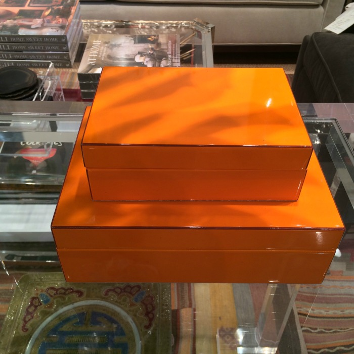 Orange Lacquer Boxes