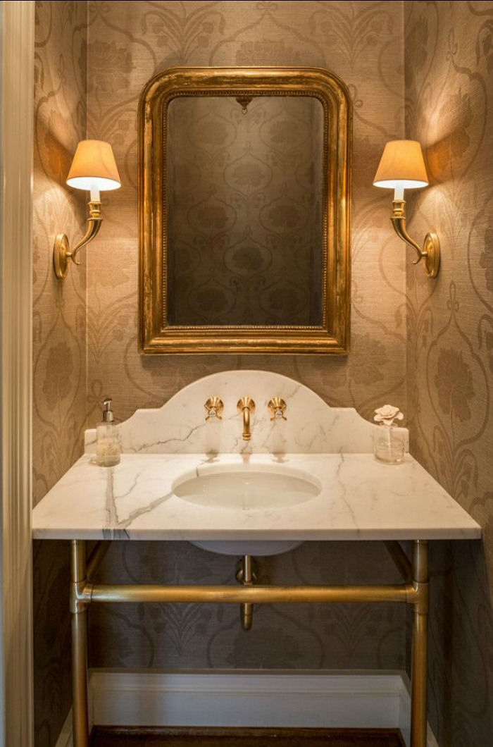 The most beautiful powder rooms ever connecticut in style - Very small powder room ideas ...