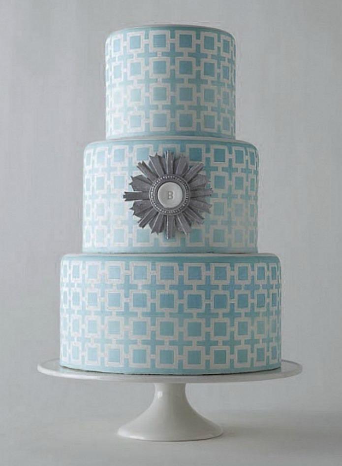 Modern Aqua Cake