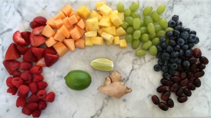 Fruit Salad with Honey Ginger-Lime Dressing