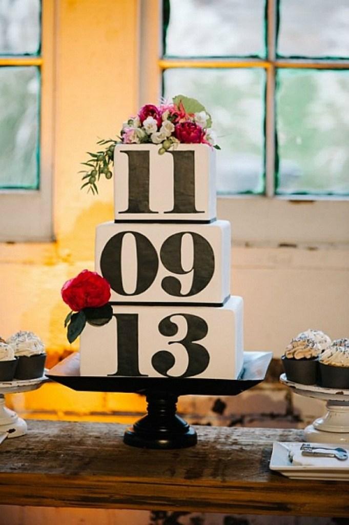 Wedding Date Cake