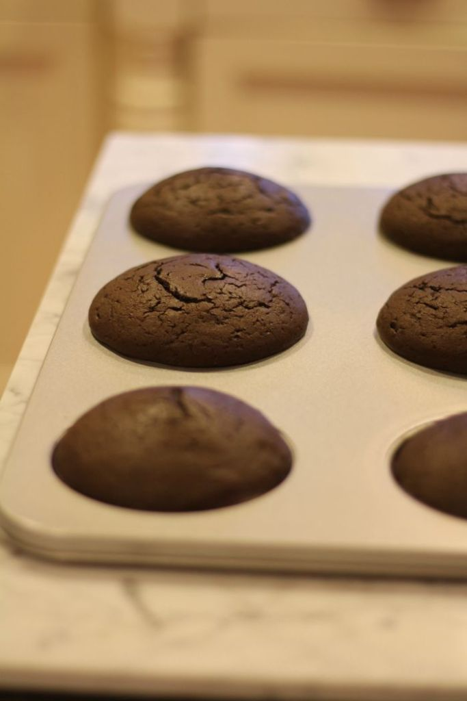 Chocolate MUffin Tops baked