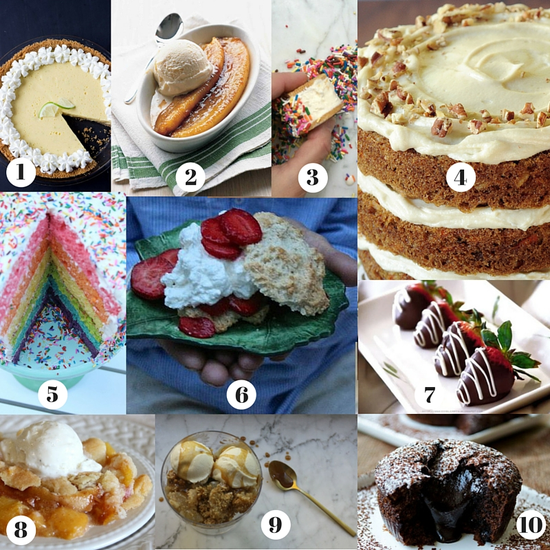 Montage of desserts