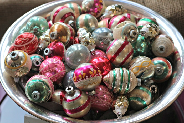 Bowl of ornaments