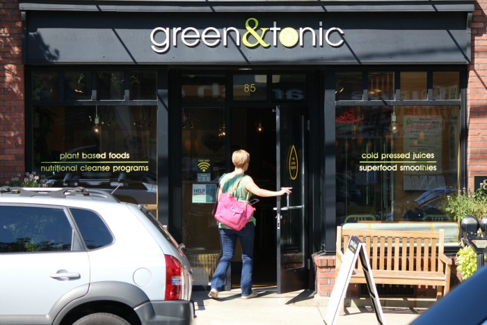green&tonic store front
