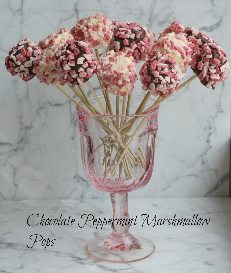 Chocolate Peppermint Marshmallow Pops