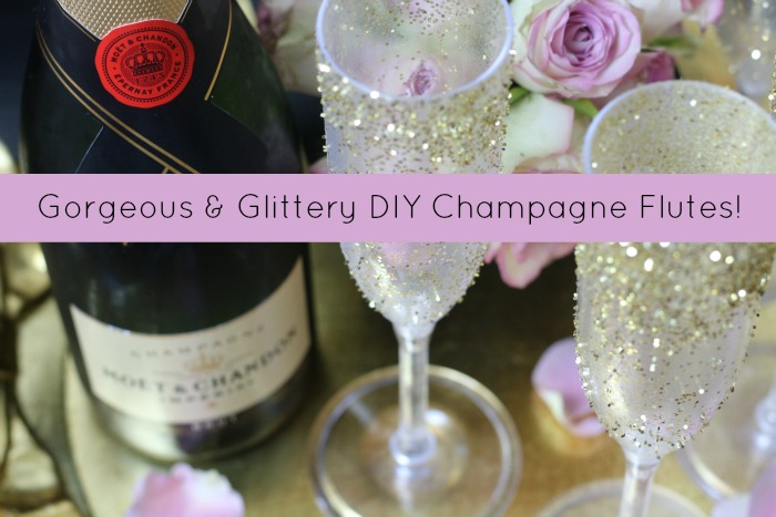 How to make Glitter Champagne Flutes