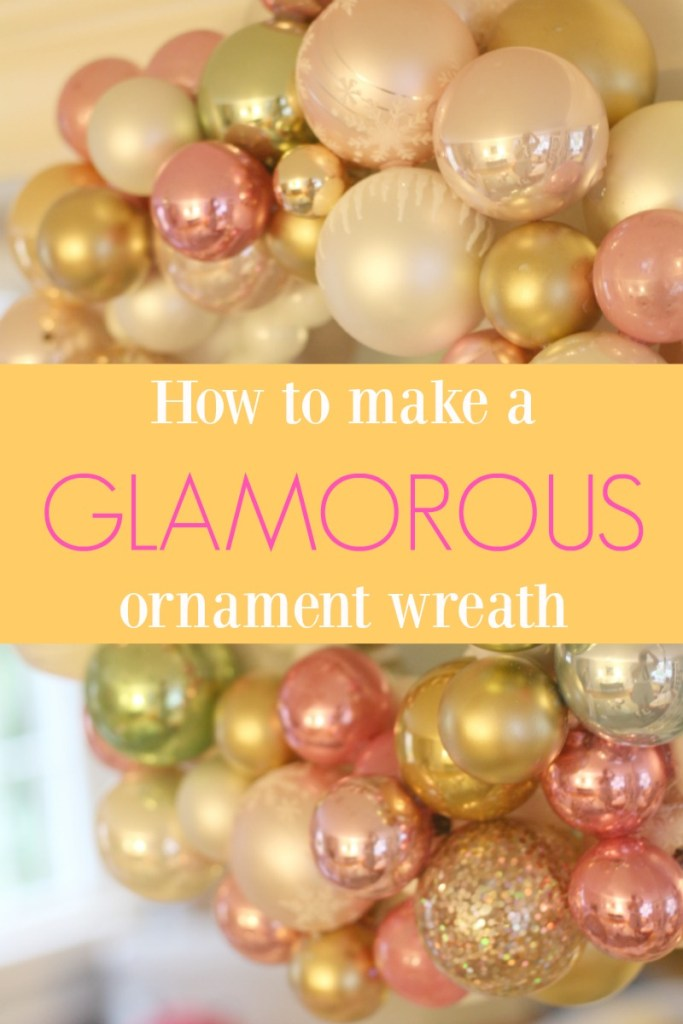 How to make a glamorous ornament wreath