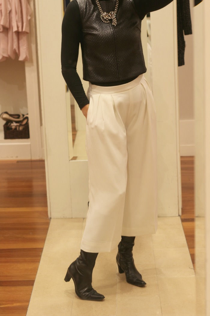White Gaucho Pants and vest
