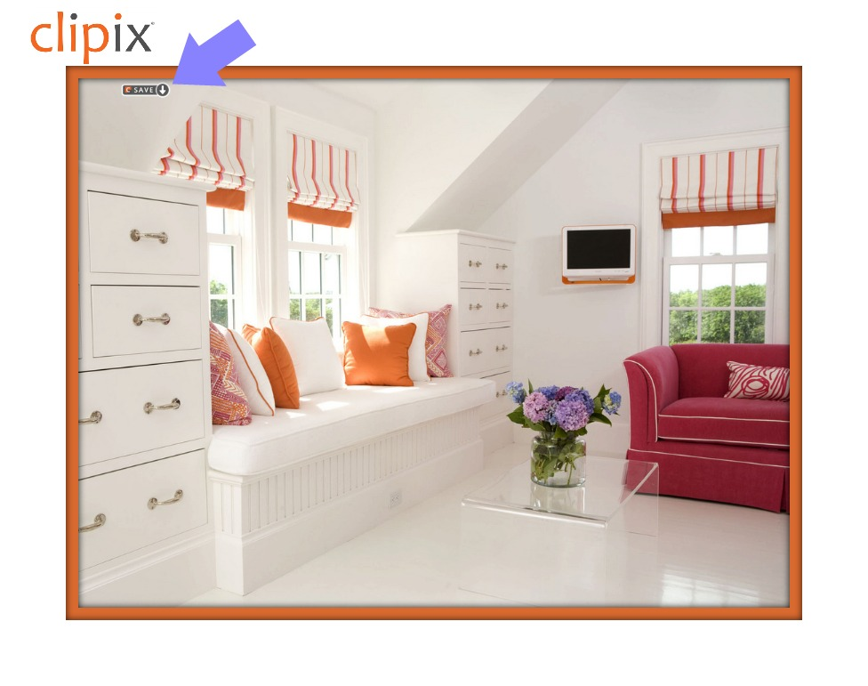 Clipix save button example
