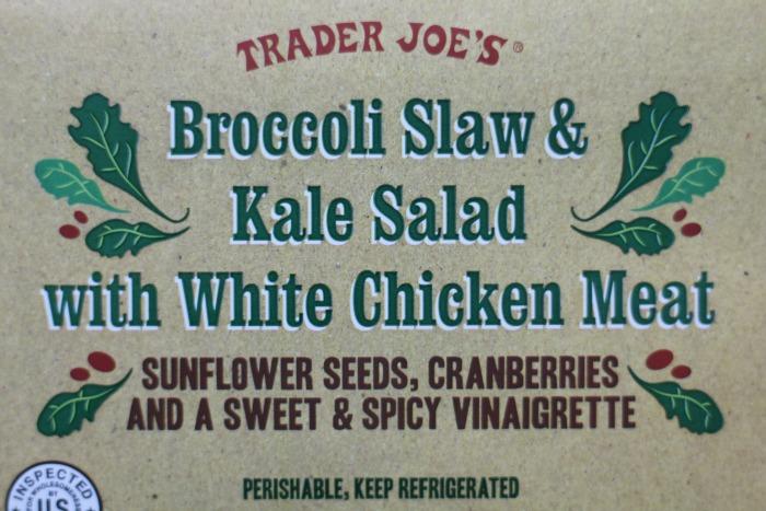 TJ's Broccoli Slaw and Kale Salad front label