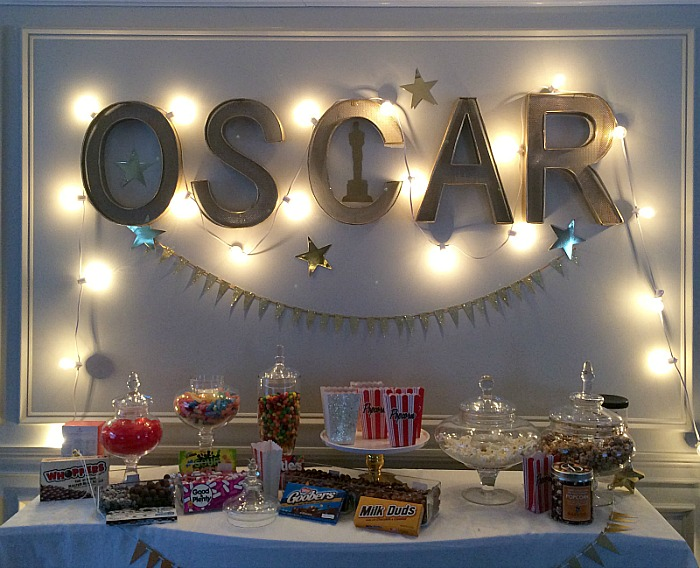 Academy Awards Party Candy Bar