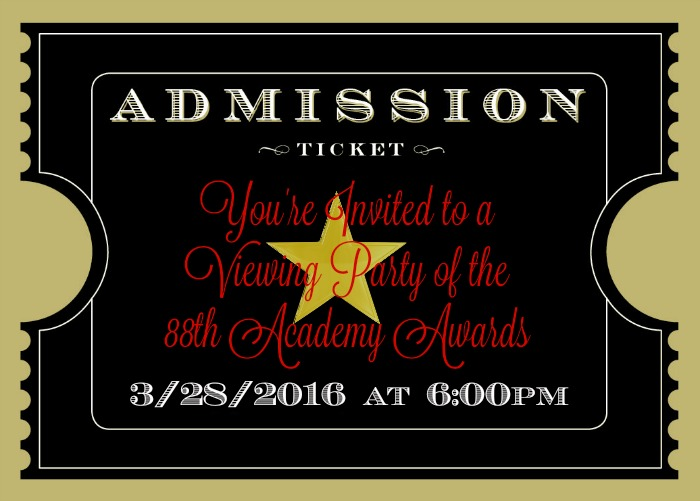 Academy Awards Party Ideas – Act I