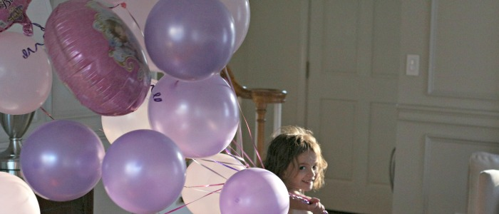 Catherine and the balloons