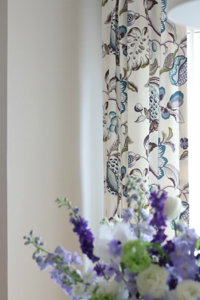 Botanical and Floral Drapes to match flowers