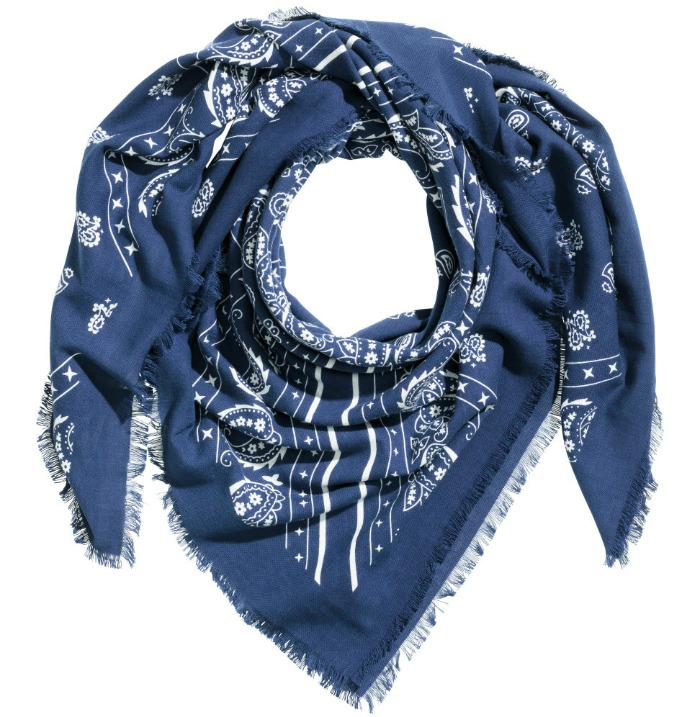 H & M Neck Scarf in blue