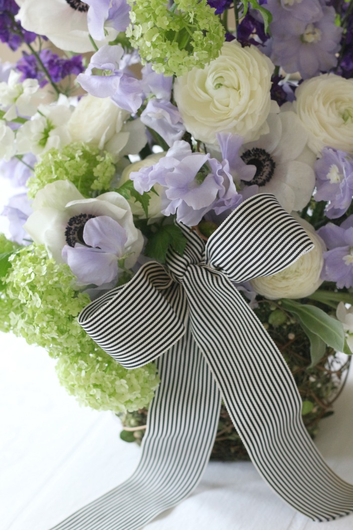 Sweet Pea, Ranunculus and Anemone flower bouquet