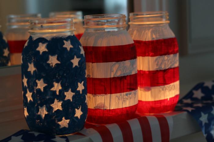 July 4th Mason Jars