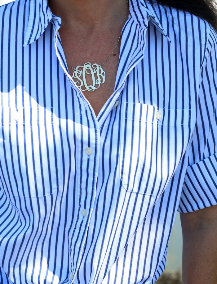 Classic Blue and White Striped Shirt - Connecticut in Style