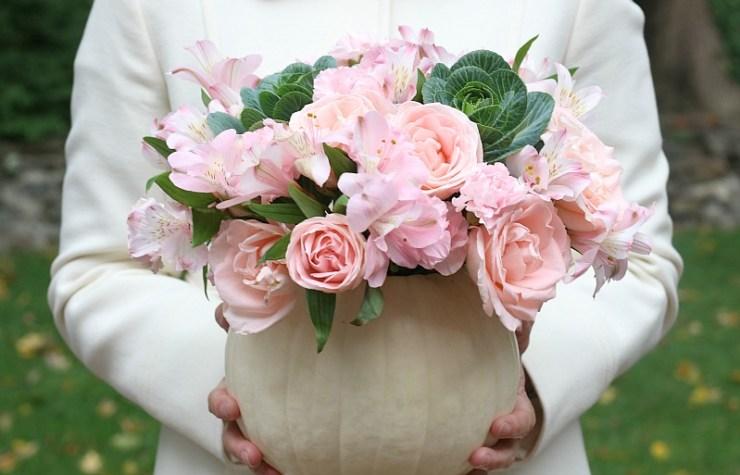 diy-pumpkin-flower-vase